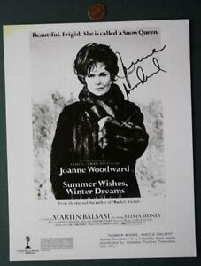 Oscar-Winner-Joanne-Woodward-signed-autographed-1986-Summer-Wishes-photo-RARE