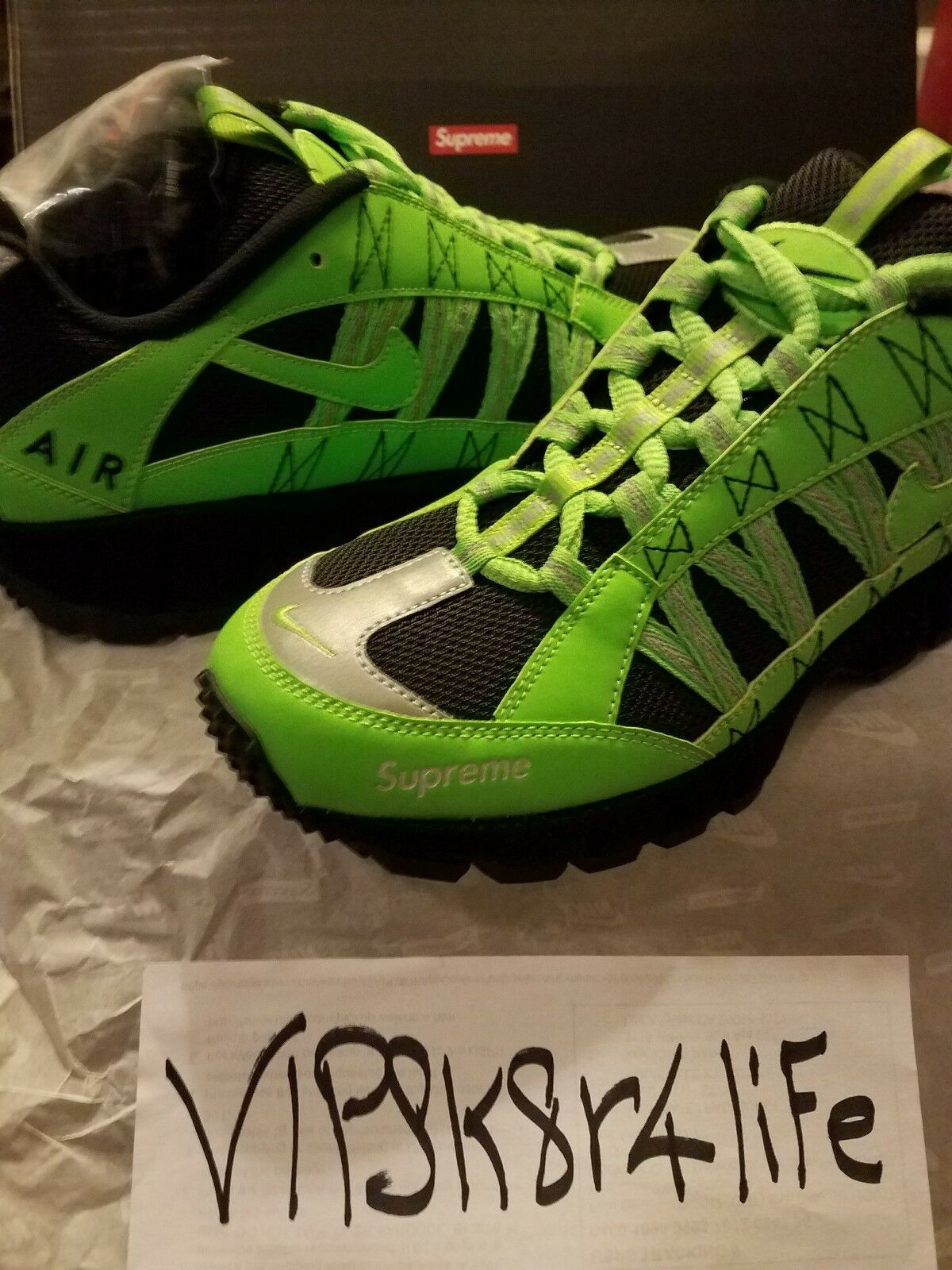 Supreme x Nike Air Humara Green FW17 Size 9.5 shoes Confirmed Order
