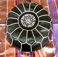 Authentic Handmade Moroccan Leather Pouffe