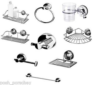 Non-Rust-STRONG-Suction-Stainless-Steel-Shower-Soap-DishCaddy-Towel-Toilet-Rail
