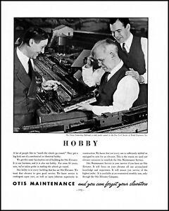 1938 Union Connecting Railroad Model Otis Elevator vintage photo print ad XL4