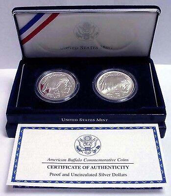 2001 American Buffalo Commemorative Uncirculated Silver Dollar