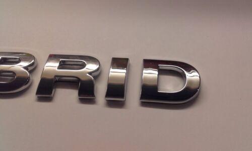New Chrome 3D Self-adhesive Car Letters badge emblem sticker Spelling HYBRID