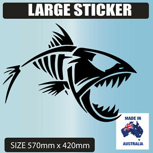 Skeleton Tribal Fish Vinyl Decal Sticker Car Truck Boat Stickers - Decals for boats australia