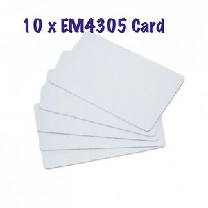 10 x RFID EM4305 125KHZ key Rewritable Card