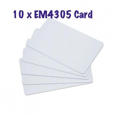 10 x RFID EM4305 125KHZ key Rewritable Card