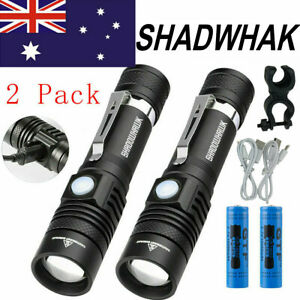 2-Packs-Flashlight-CREE-XM-L-T6-LED-Torch-USB-Bike-Rechargeable-60000LM-Shadwhak