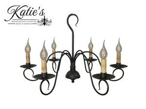 Details About Franklin Chandelier By Katie S Handcrafted Lighting Primitive Colonial New