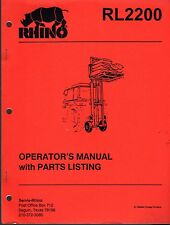 10/1992 RHINO RL2200 OPERATOR'S & PARTS MANUAL P/N 00763858 (704)