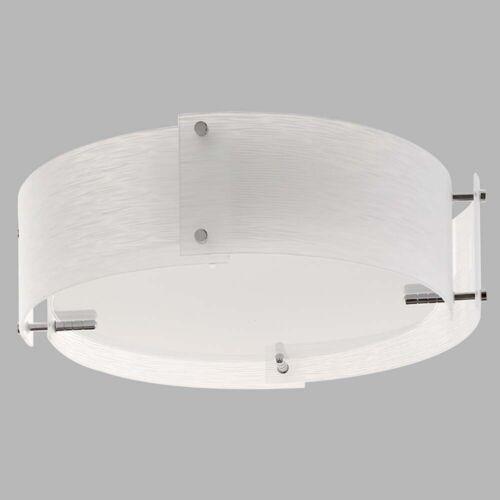 GLASS Trinity Deckenleuchte 3Flammig 4 Mattglas Paneele Halbbündig Weiß Stahl