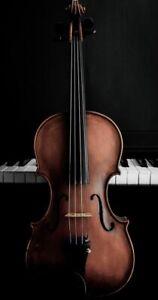 Plaque métal  instrument de musique 30 X 20 CM