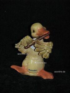 + # A001465_01 Goebel Archive Motif Drôle De Animaux Canard Duck Avec Flûte Dispositif De Sécurité-afficher Le Titre D'origine Convient Aux Hommes, Femmes Et Enfants