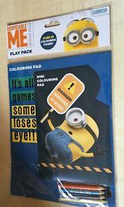 BNIP New BARBIE Play Pack Colouring Pad Mini Pad 4 Pencils