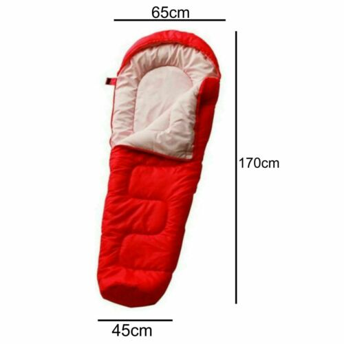 Kids Sleeping Bag Red Children/'s Junior Mummy Shape For Camping Bed Sleep Overs