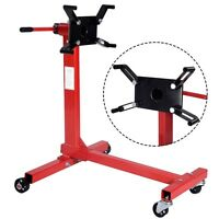 Pro 1000lbs Shop Engine Stand Hoist Automotive Lift Rotating 4 Leg Durable Motor on Sale