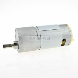 37mm 24V DC 60RPM Replacement Torque Gear Box Motor