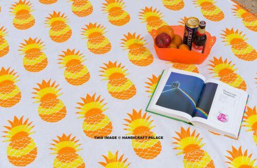 Round Beach Throw Pineapple Mandala Tapestry Outdoor Picnic Blanket Indian Mat