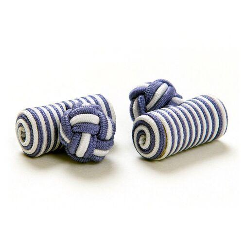 flieder-weiss London Style Manschettenknöpfe Seidenknoten Cufflinks