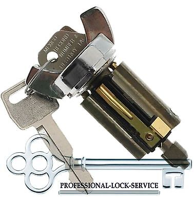 Cadillac Eldorado 79-87 Ignition Key Switch Lock Cylinder Tumbler 2 Keys Black