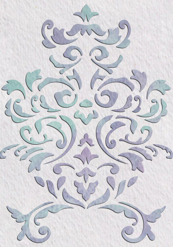 Floral Stencil Vintage French Template Paint Furniture Card making Crafts FL22