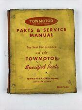 Towmotor Models 540 600 670 680 P Lift Truck Forklift Partsservice Manual