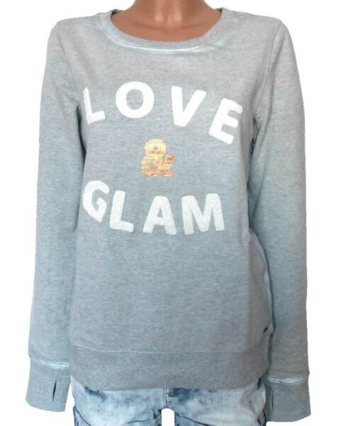 KANGAROOS Damen Sweatshirt Pullover grau meliert GR. 32 34 36 38 NEU – SW15