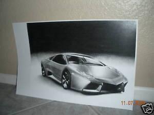 Lamborghini Reventon 2008 Drawing Ebay