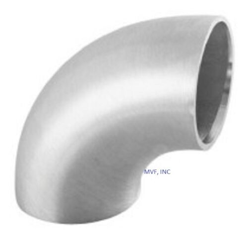 """1-1//2/"""" Schedule 10 Long Radius Butt Weld 90° Elbow 316//L Stainless /<SB010818316"""