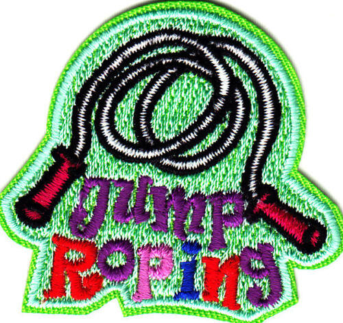 JUMP ROPING Iron On Patch Games