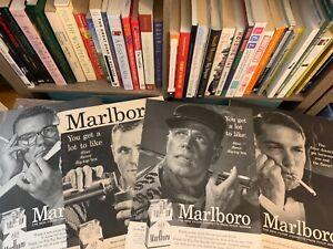 1950-039-S-60-039-S-MAGAZINE-ADVERTISEMENT-ADS-4-PAGES-MARLBORO-CIGARETTES-MEN-ARTWORK