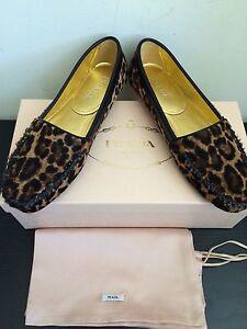 Nib850 Prada maat Leopard haarloaf loafers 5 6 yN8mwPvn0O