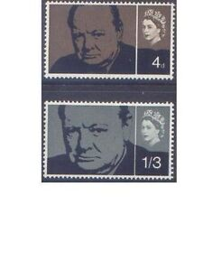 Great-Britain-1965-CHURCHILL-2-Unhinged-Mint-SG-661-2