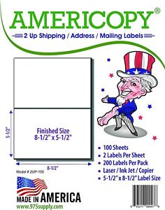 Americopy-2UP-8-5-034-x-5-5-034-Shipping-Address-Labels-2-Sheet-100-Sheets-Pack