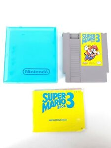 Nintendo-NES-Super-Mario-Bros-3-1985-W-Manual-and-Case