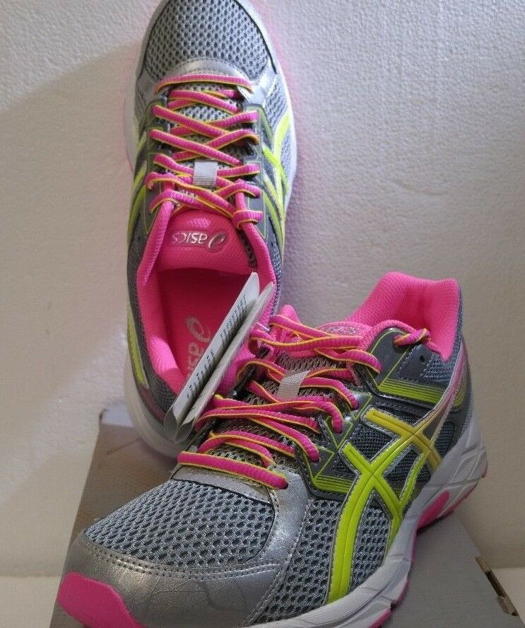 ASICS Women's Gel-Contend 3 Running shoes, Sz  7.0, Steel Grey Safety Yellow Pink