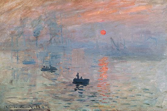 Claude Monet  Impression au soleil levant Keilrahmen-Bild Leinwand Sonnenunterga