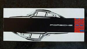 NOS Original Porsche Usine 911 911S 912 Preise Prix Liste 1967 Allemand