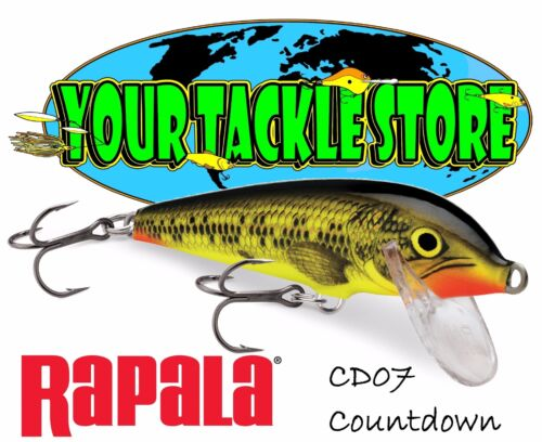 Rapala CD07 Countdown Pick Color /& Qty NIB Factory Direct