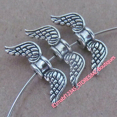 PJ199 20pc Tibetan Silver Angel wings Spacer Beads Findings retro Wholesale