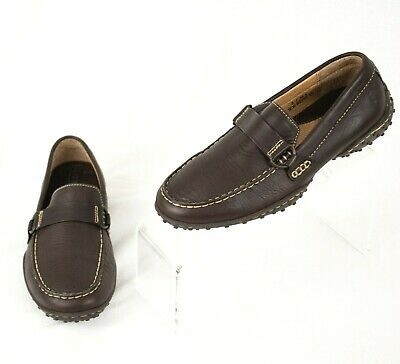 Brown Leather Driving Mocs Moccasins