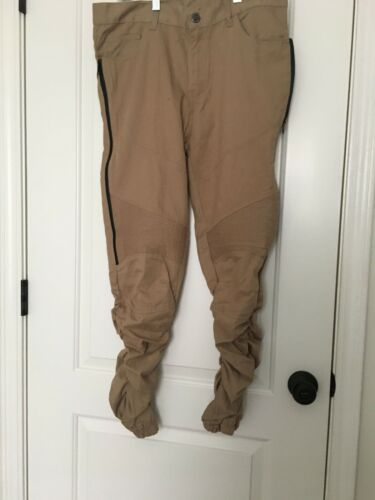 LR Scoop Men's Casual Pants Sz M Dark Khaki & Blac