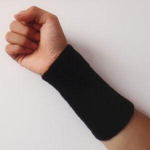 Mens Ladies Gym Sports Tennis Cricket Large Wrist Sweatband 15 cm Wristbands