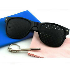 Fashion Vision Care Glasses Eyesight Improver Glasses Pinhole Glasses Black