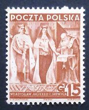 POLAND STAMPS MNH 1Fi334 Sc339 Mi355 - Jagiello without swords, 1939, clean