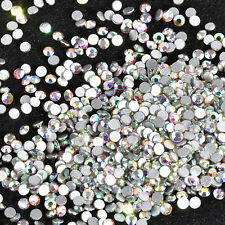 Glitter DIY Nail Art Tips Charm Flat Back Gems Crystal Rhinestones 3D Decoration