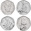 Beatrix-Potter-50P-2016-2017-2018-2019-Puddle-duck-Peter-Rabbit-Cheap-50p-Coins thumbnail 5