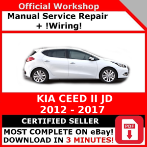 factory workshop service repair manual kia ceed ii jd 2012 2017 rh ebay co uk service manual kia ceed jd kia ceed owner's manual
