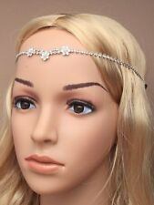 DIAMANTE CRYSTAL HEAD hair CHAIN BAND 4769 browband boho wedding flower bridal
