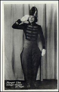 MARGOT-LISS-Schlager-Saengerin-am-Fluegel-alte-Prominenten-Postkarte-um-1930-40