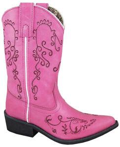 Smoky Children/'s Kid/'s Pink Western Cowboy Boot